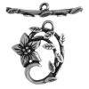 Toggle - Jasmine Star 18mm Antique Silver